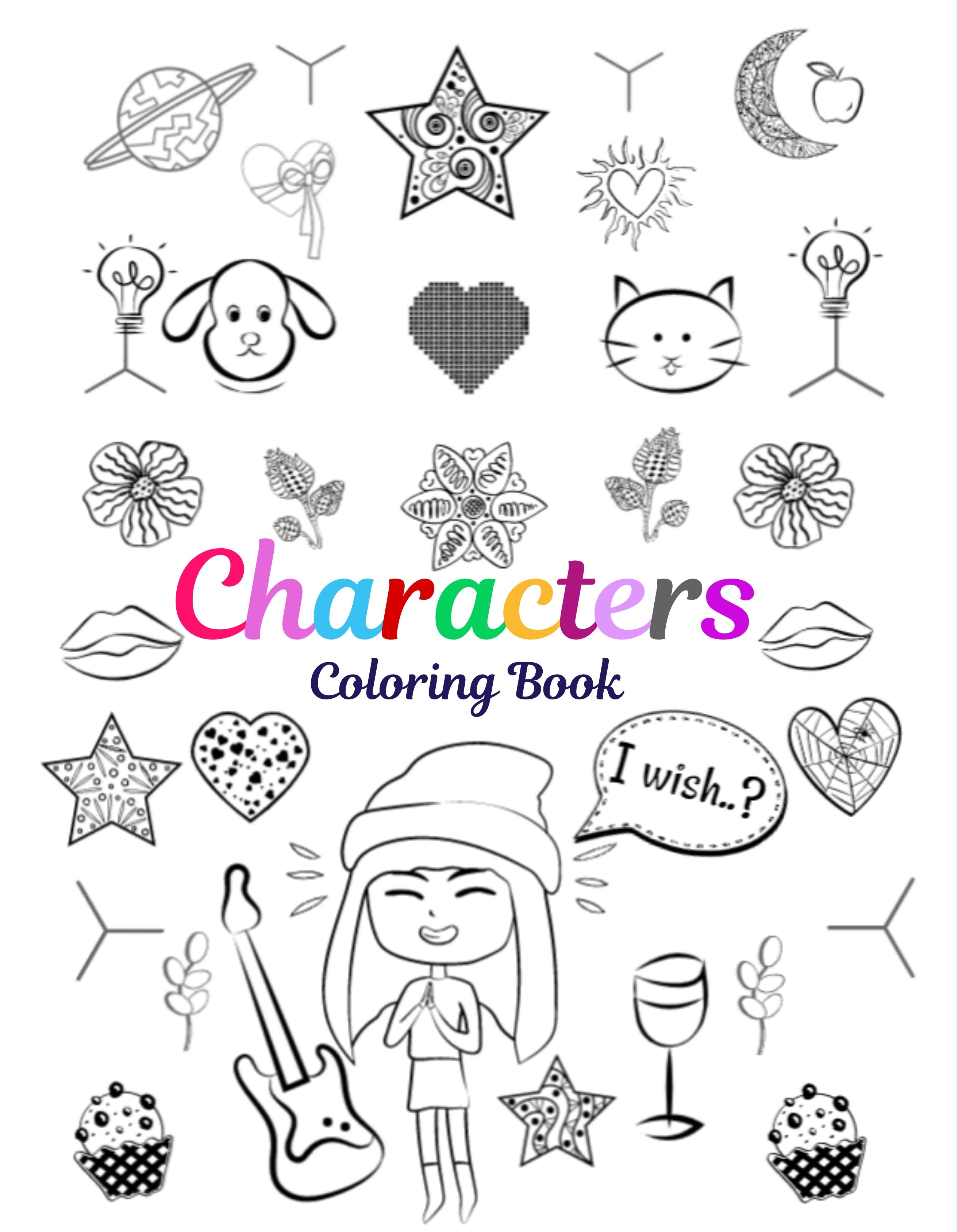 Characters Coloring Book Coloring Books Books Meet Friends