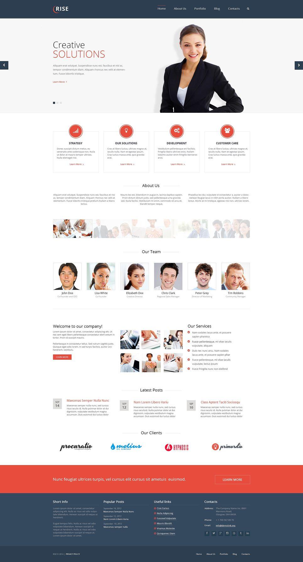 Modern And Flat Wordpress Theme For Pr Theme Wordpress Design Webdesign Flatdesign Minimalist Simple
