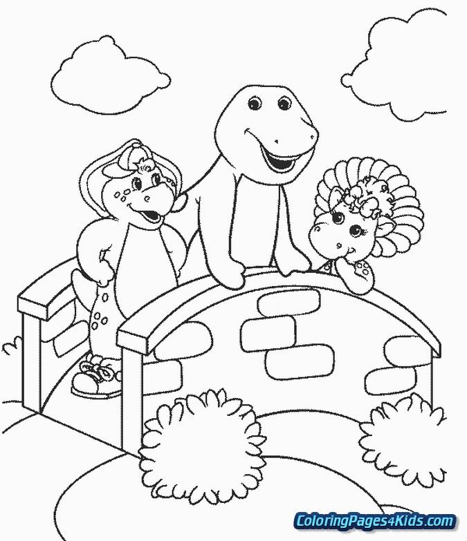 barney the dinosaur coloring pages Coloring Pages For Kids | barney ...