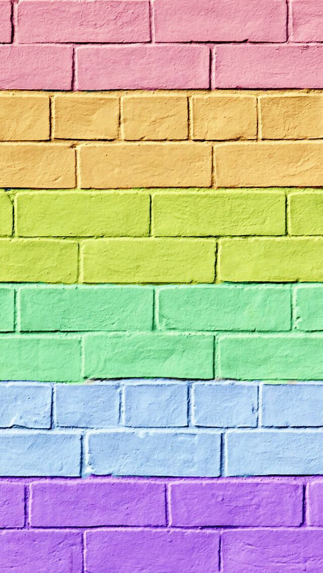 Cut colorful brick wallpaper. | iPhone wallpapers | Pinterest | 배경화면, 예쁜 그림 and 배경