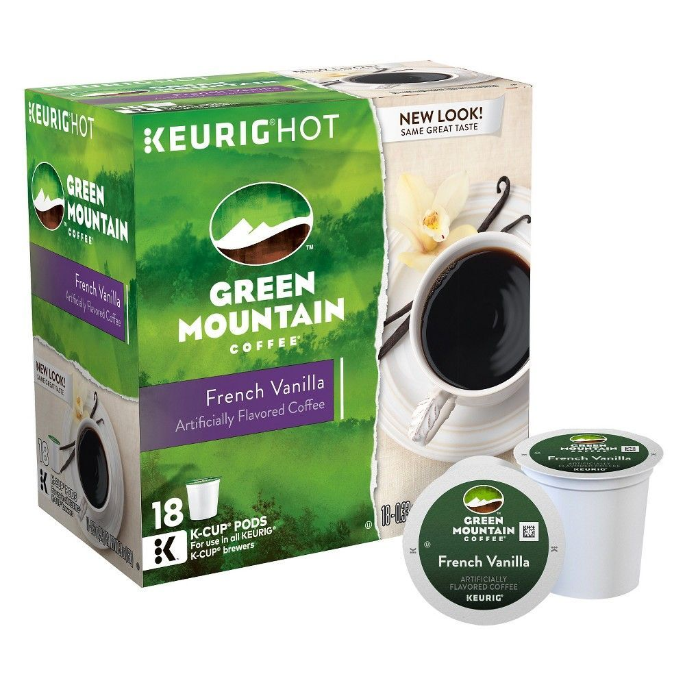 Green mountain coffee french vanilla keurig kcup pods