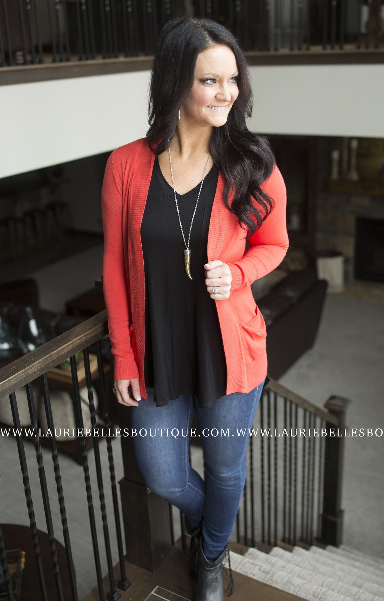 Long Pocket Cardigan (Several Colors Available)
