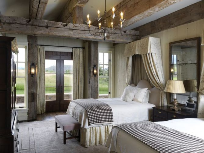 an example of use of rustic beamsbelgian style! belgian