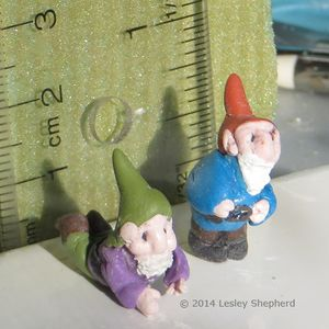 How To Make Tiny Garden Gnomes For Fairy Gardens Or Jewelry: Making A  Series Of