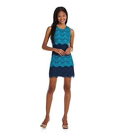 Jessica Simpson Tiered Lace Sheath Dress #Dillards: yes/no????