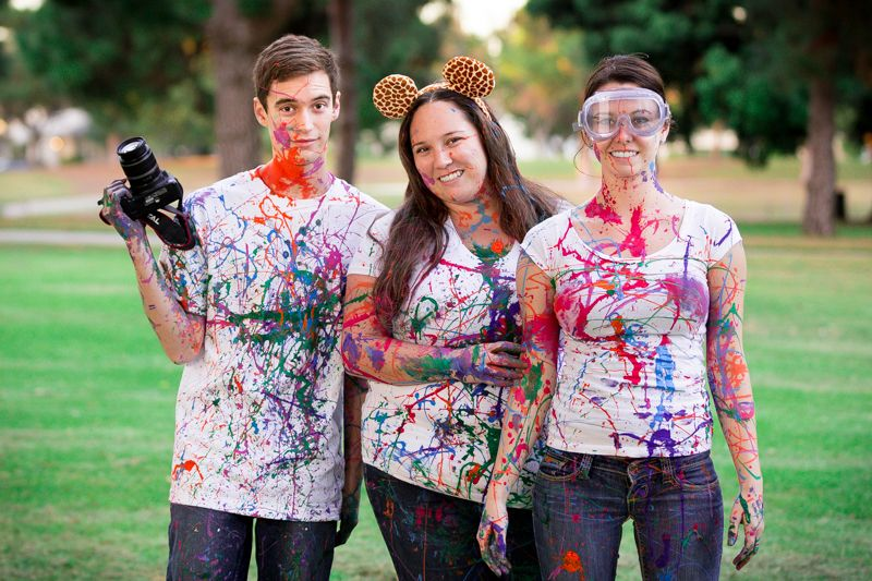 Family Portrait. Paint Wars 2013. Heartwell Park Long Beach, California. Siblings.