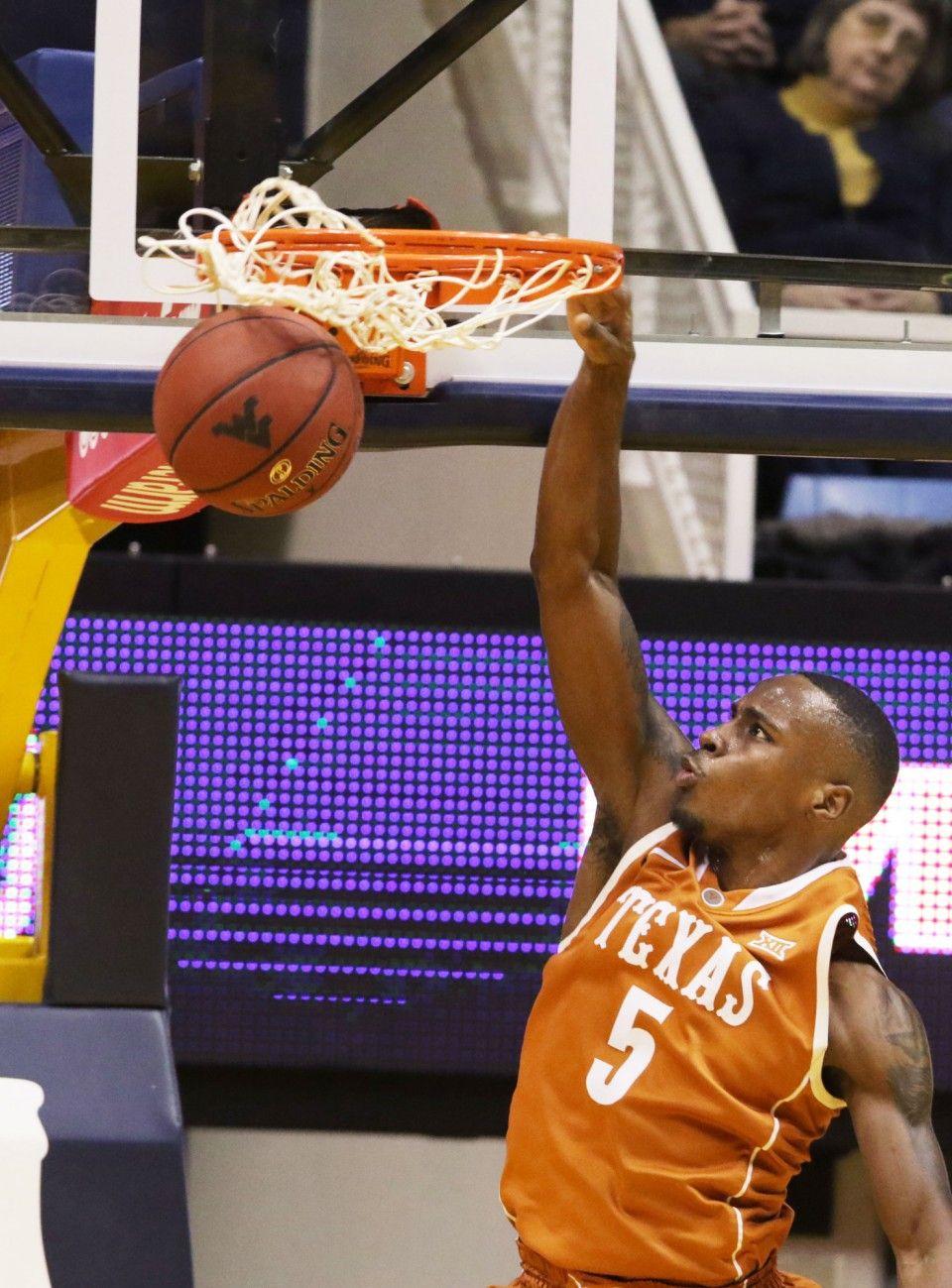 College basketball scores Texas beats West Virginia