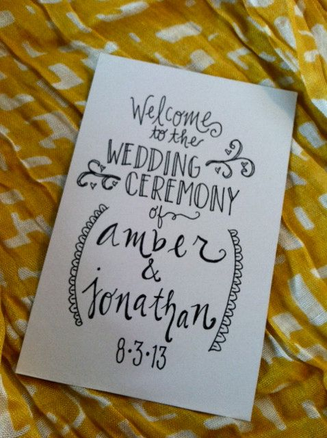 Custom Wedding Program Covers. simple and could print at home for cheap