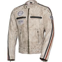 Photo of Spirit Motors retro style leather jacket 3.0 white men size M Spirit Motors