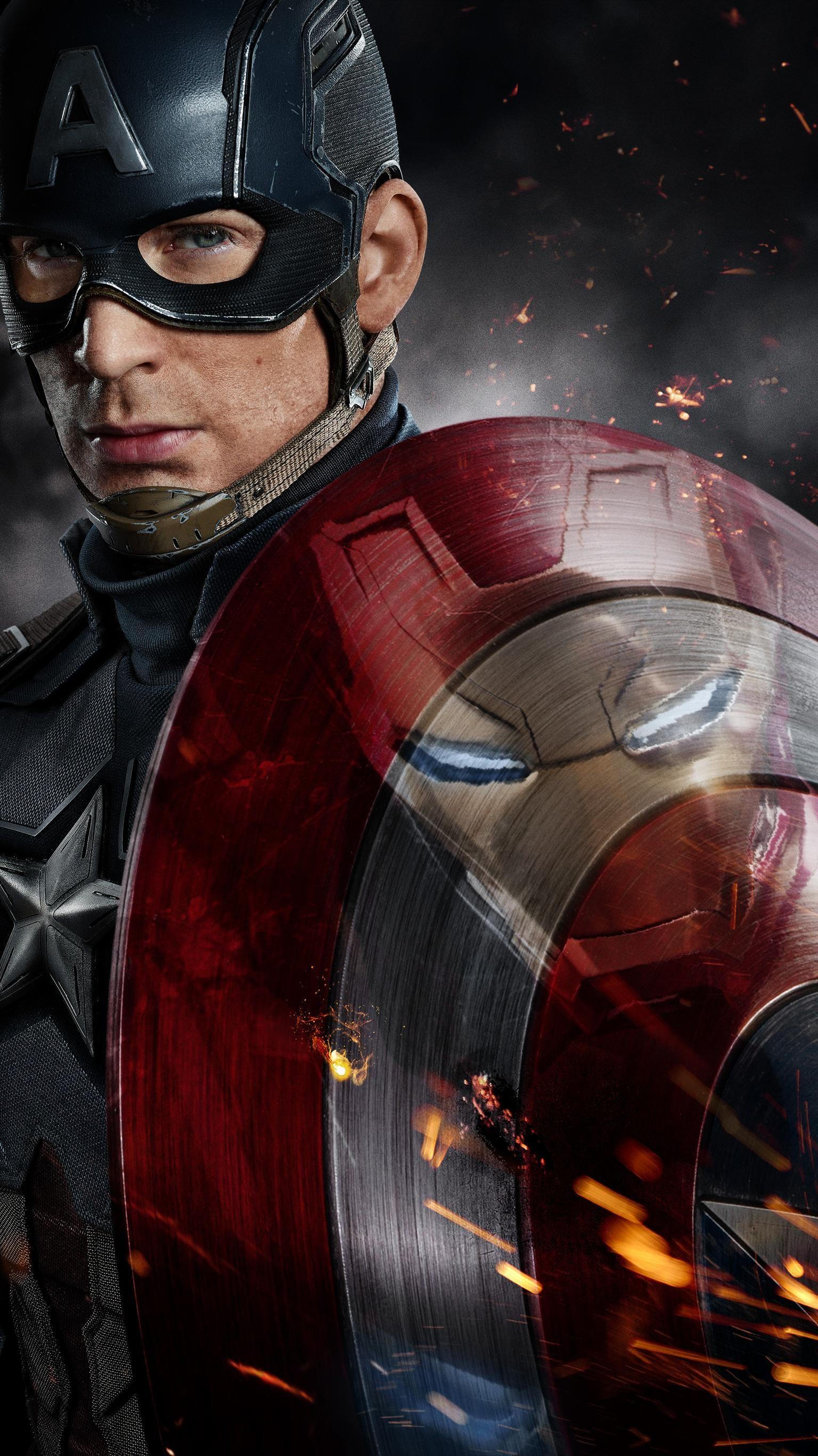 Captain America Civil War 2016 Phone Wallpaper Marvel Captain