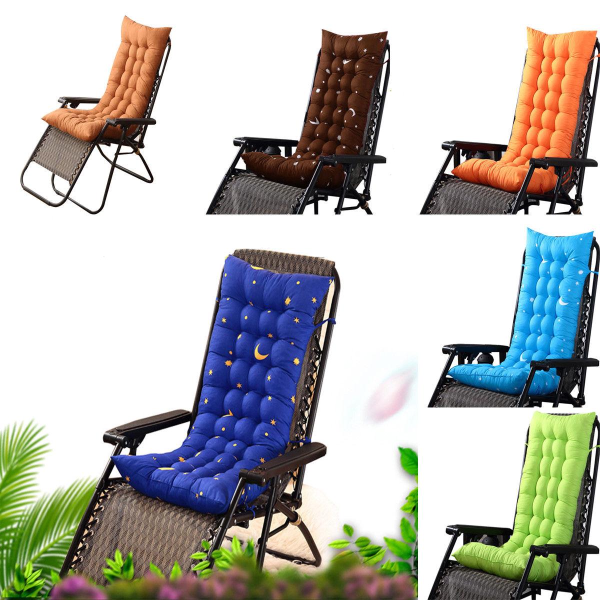 Hot Deck Chair Cushion Thick Outdoor Patio Backyard Garden Lounge Seat  Padding G