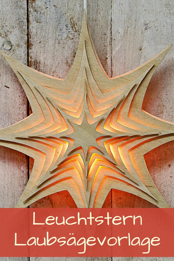 Leuchtstern Basteln Selbst De Laubsage Vorlagen Weihnachten Holz Basteln Weihnachten Holzarbeiten Zu Weihnachten