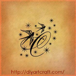 C-tattoo-rondini