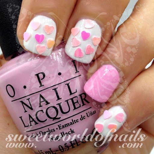 Valentines Day Nail Art 3d Mini Pink Hearts Nail Art Nail