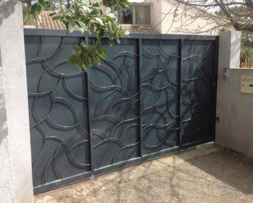 fabrication portail coulissant n mes portail d 39 entr e pinterest gate home decor et home. Black Bedroom Furniture Sets. Home Design Ideas