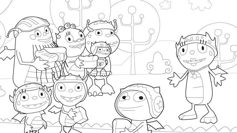 Henry Hugglemonster coloring page | Disney Junior! | Pinterest
