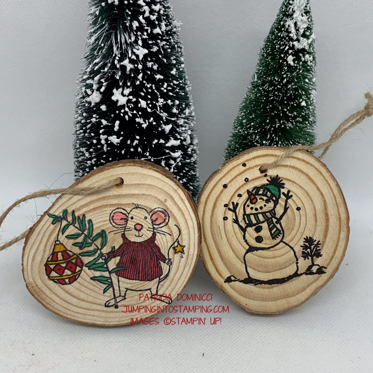 Stamping On Wood Wood Stamp Wood Slice Crafts Wood Slice Ornament