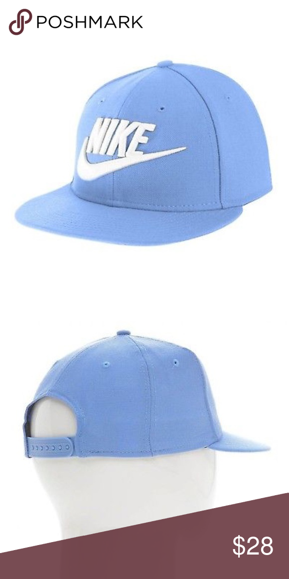 Nike Snapback Baby Blue Hat Nike Accessories Embroidered Nike Logo Blue Hat