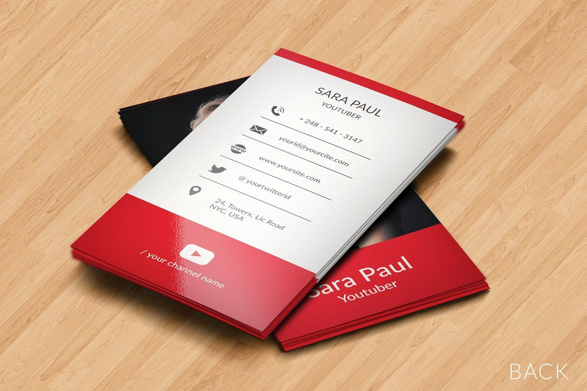 Youtube Business Card Youtube Business Youtube Channel Art Youtube