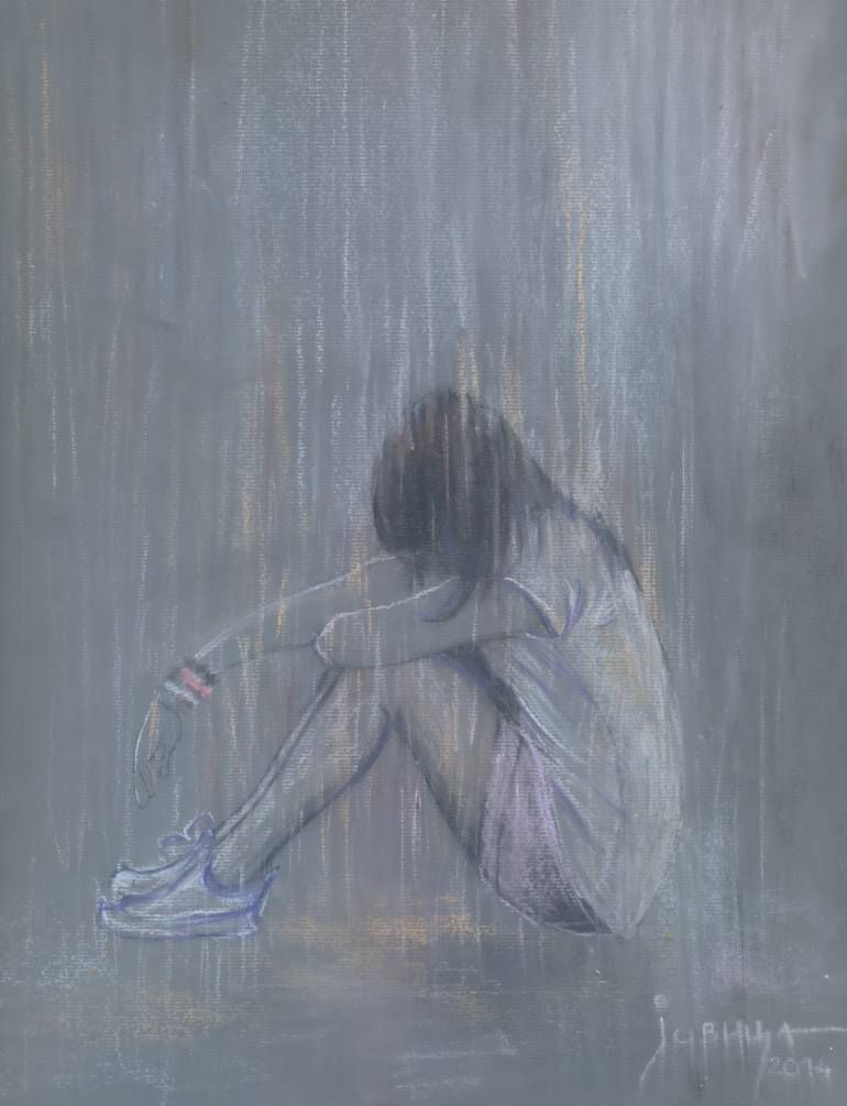Sad A 17 Year Old Pregnant Girl Commits Suicide In River: Art, Sad Art, Saatchi Art