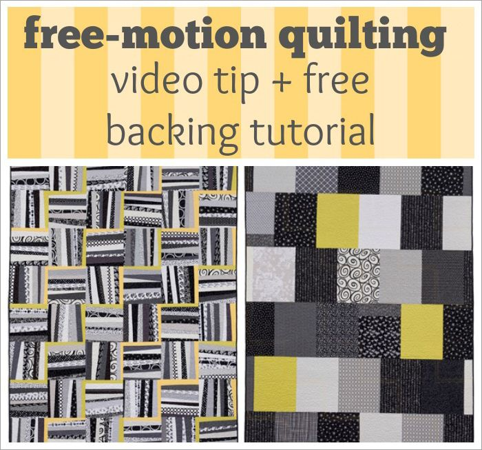 Free-motion quilting video tip + FREE quilt-backing tutorial | How ... : free quilt videos - Adamdwight.com