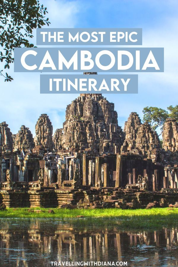 The Most Epic Cambodia 10 Day Itinerary. Cambodia is a gorgeous country full of beautiful natural scenery and amazing sights to see: Angkor Wat, floating villages, beaches, temples, and more.If you're planning your own visit to Cambodia, I've got you covered with this 10 day itinerary that will help you get the most out of your trip. #cambodia | Cambodia Itinerary | What to do in Cambodia | Cambodia Travel Tips |