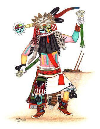 hopi kachina drawings - Google Search   Art, Hopi  Hopi Drawings
