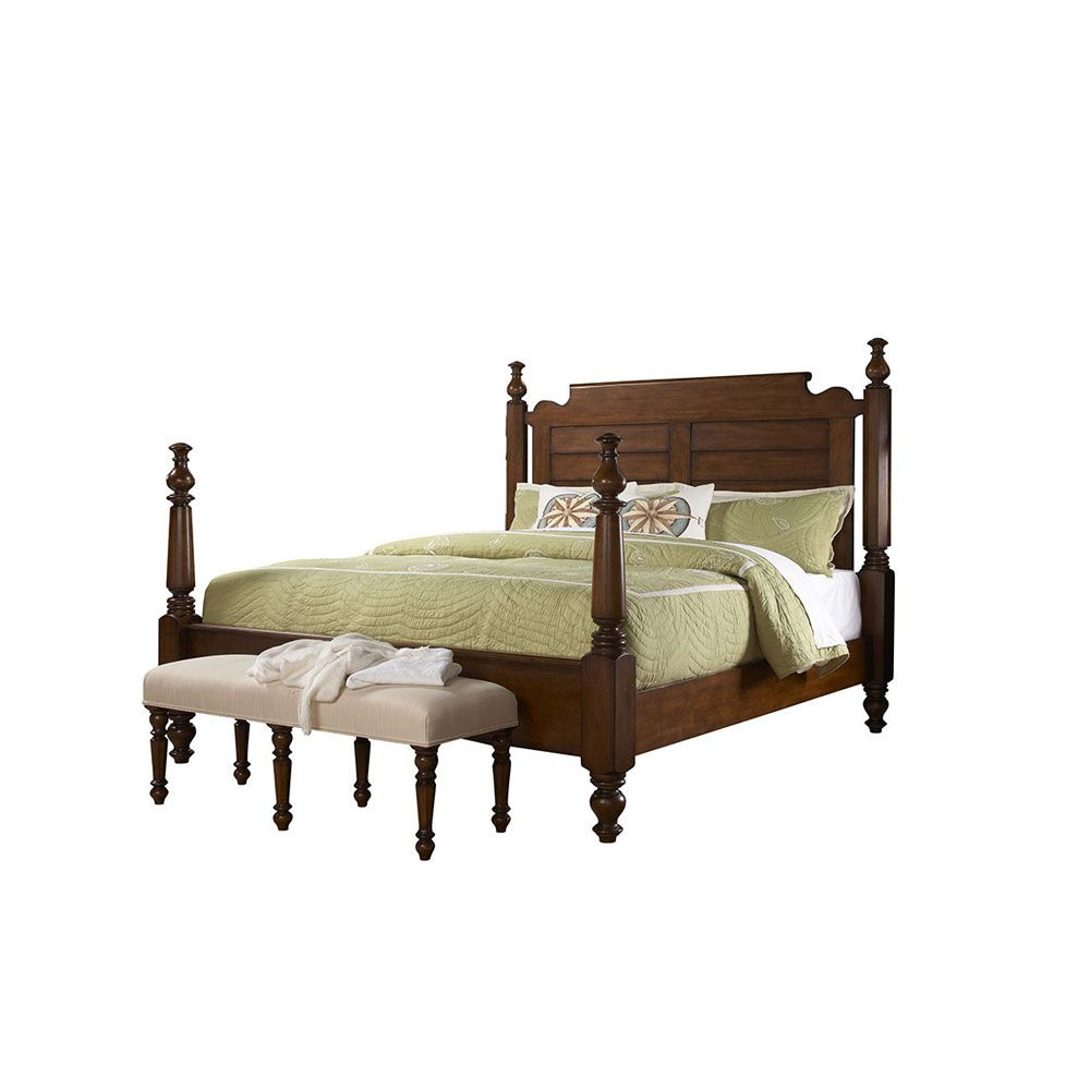Fine Furniture Design Summer Home Queen Post Bed in Lodge FF-1050-751-752-753