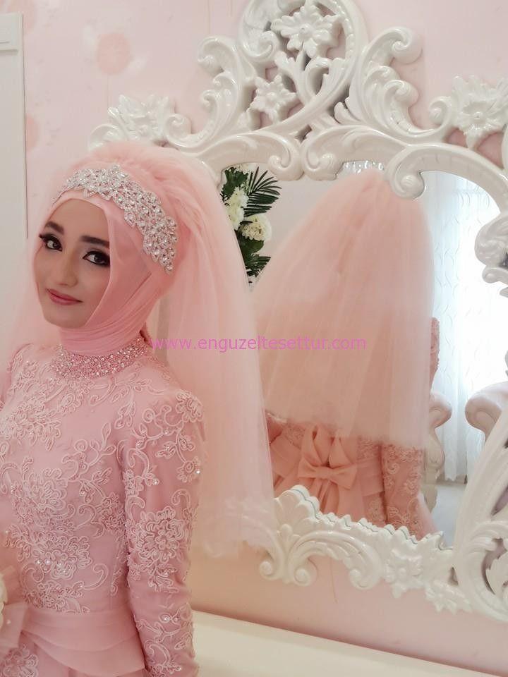 Участие в самый красивый завеса венценосец | Muslim Bridal Hijab ...