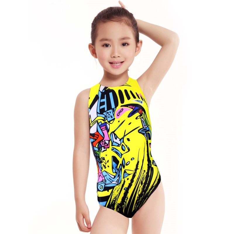 98894369bb 19.90$ Buy now - Yingfa 2017 swimwear training swimsuit arena Girls swimsuits  children racing competition kids swimming suits professional hot # ...