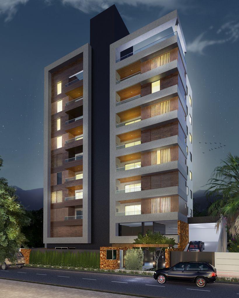 Fachada noturna high rize pinterest fachadas for Fachadas apartamentos modernos