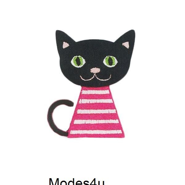 Pin By Modes4u On Tissu Pour Couture Fr Black Cat Black Cat Art Stripe Outfits