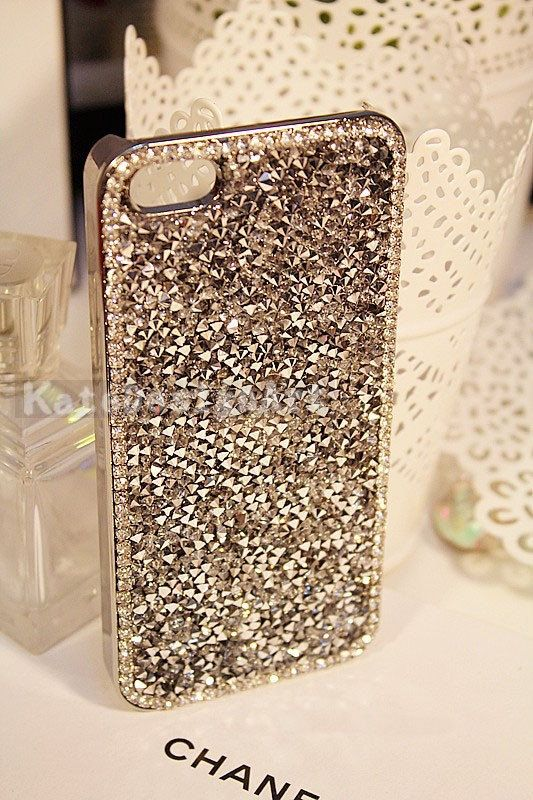 For Mobile Phone Sparkly Assorted Crystals Rhinestones Wallet Leather Cards Case
