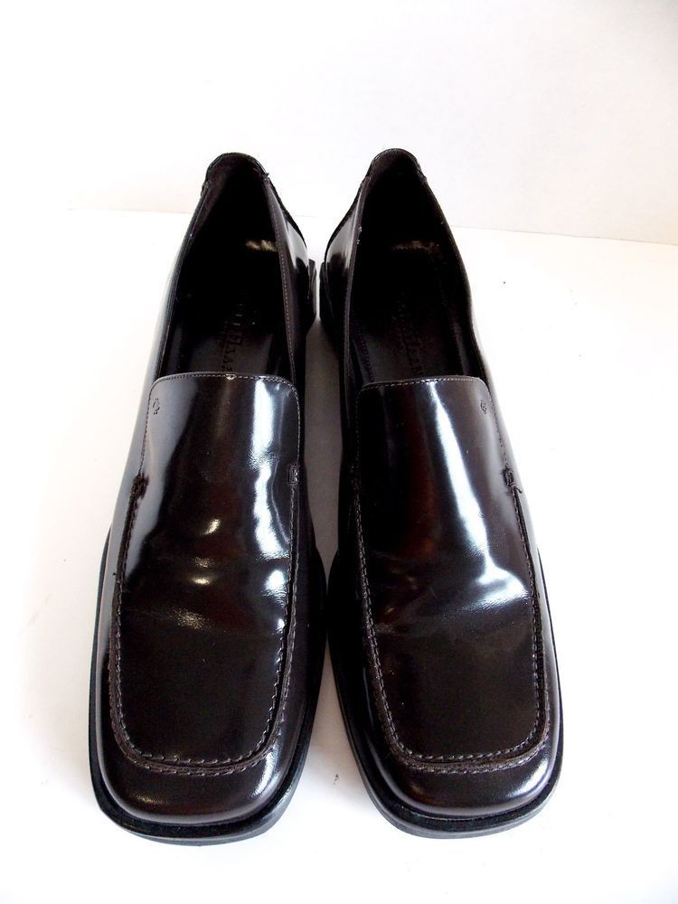 9fd1b2d17eb Cole Haan Studio Womens 10B Shoes Brown Leather Loafer Slip on Square Toe   ColeHaan  LoafersMoccasins  Casual