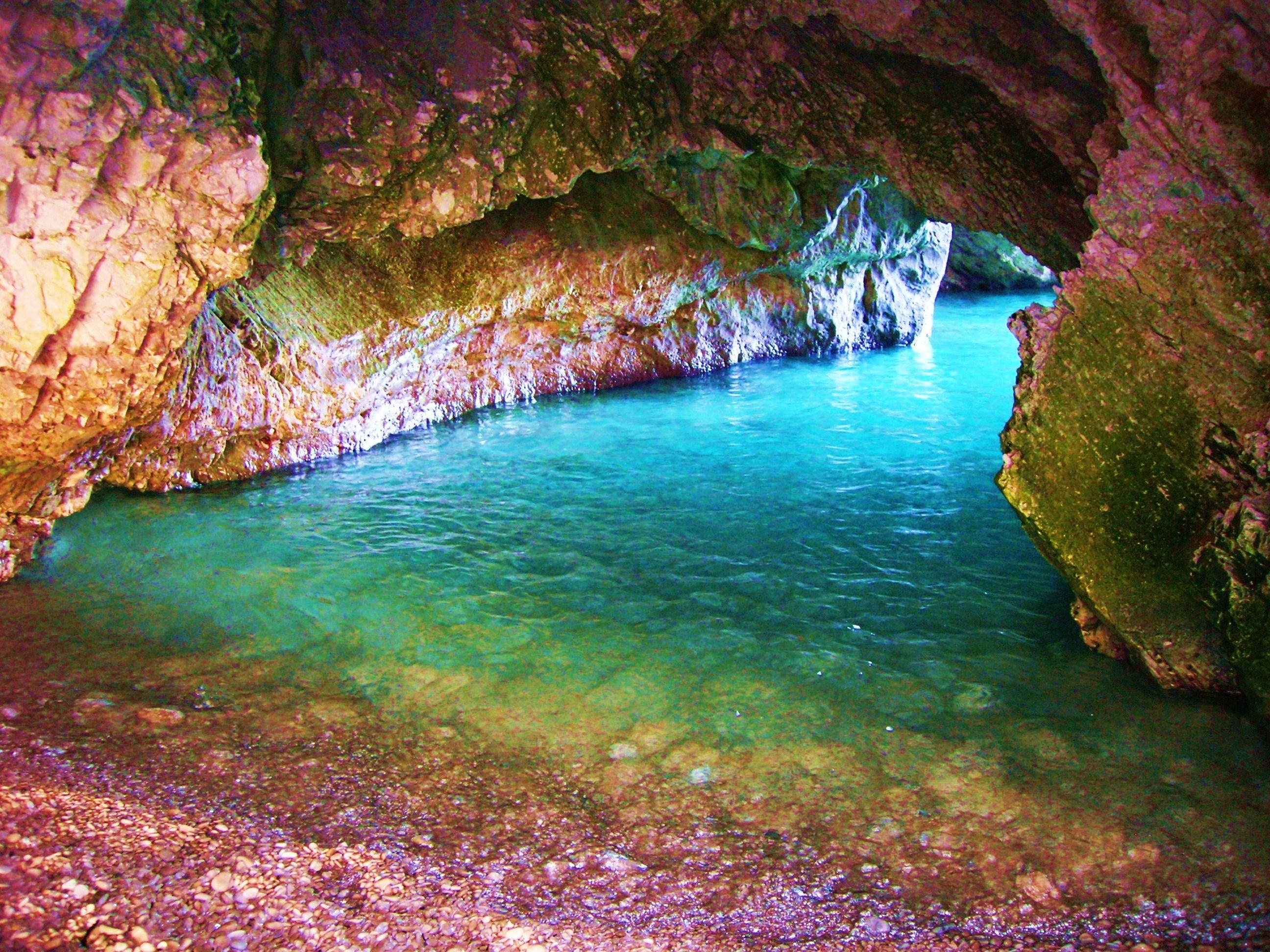 myrtos cave,kefalonia island-greece