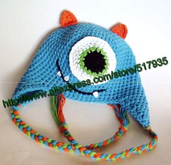 Sin gastos de envío, crochet bebé patrón monsters inc mike