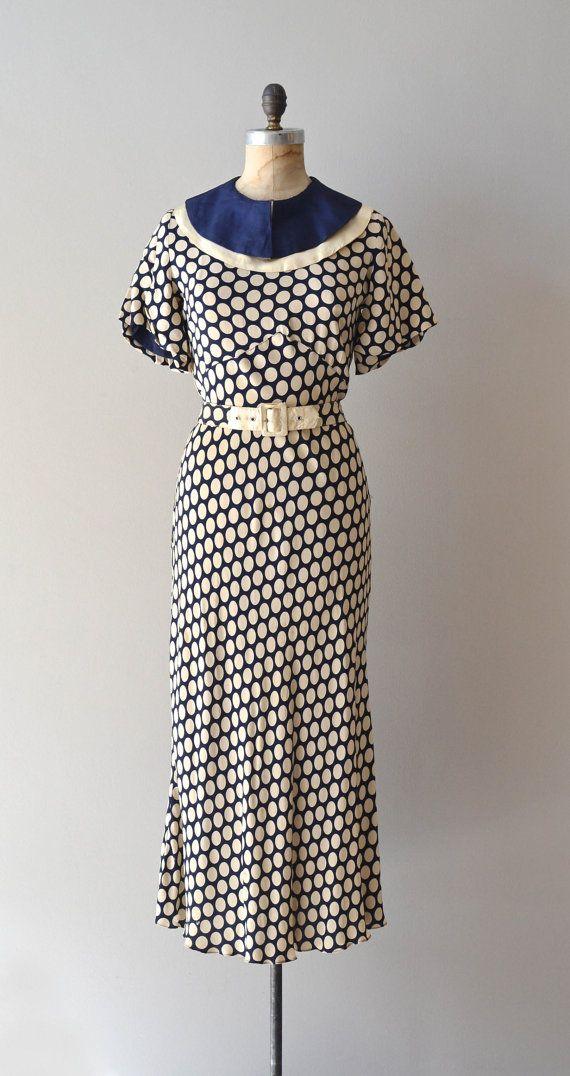 R E S E R V E D 1930s Dress Vintage 30s Dress Miss Minnie