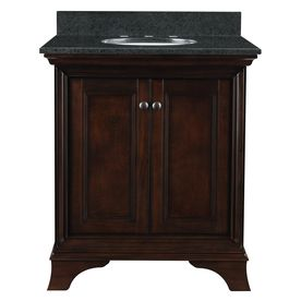 Eastcott Auburn Single Sink Undermount Bathroom Vanity With Granite Top Common 31 In
