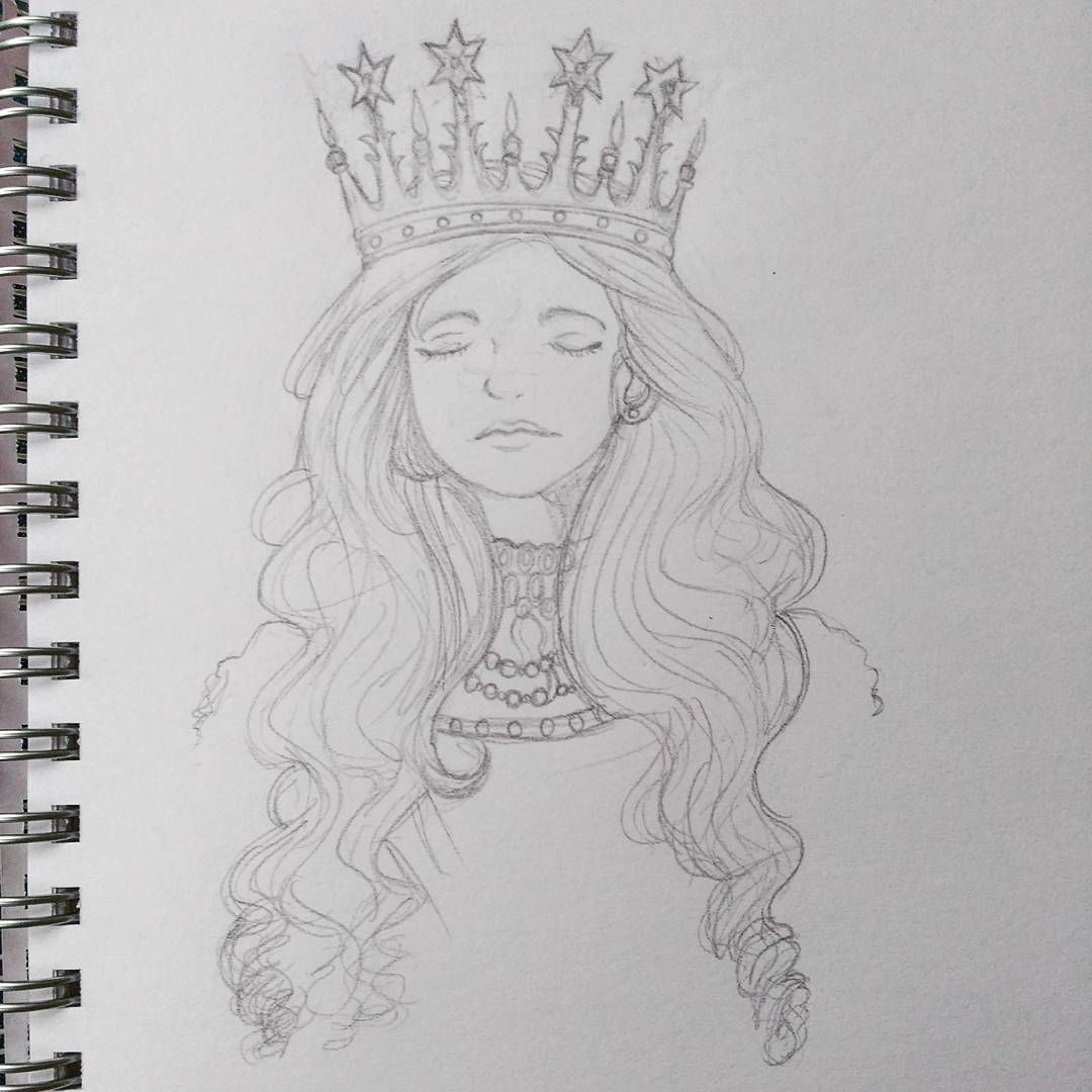 Pin by isabella gouge on artsy crown drawing pencil drawings art