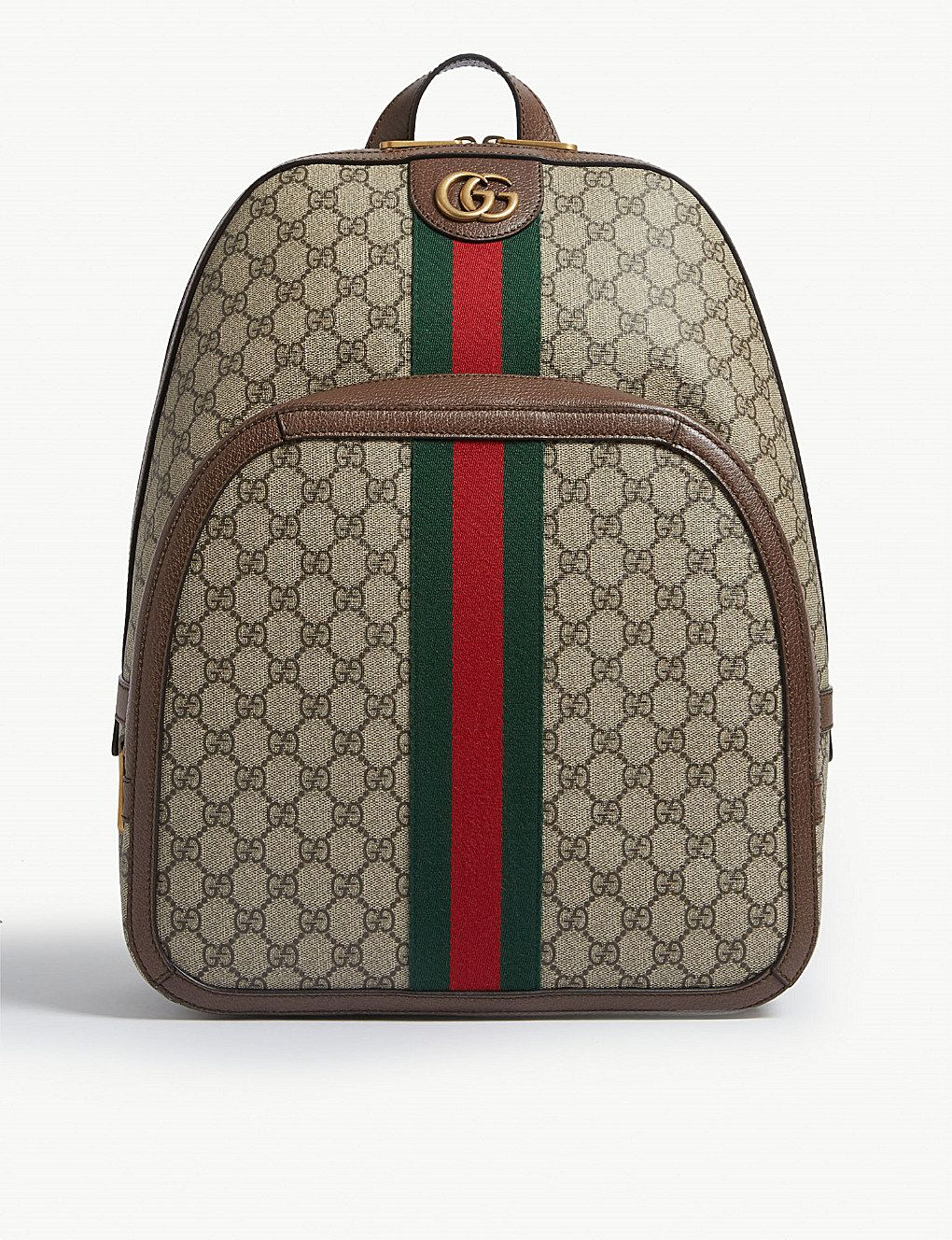 9be1c02b3f GUCCI - GG Supreme canvas and leather backpack | Selfridges.com
