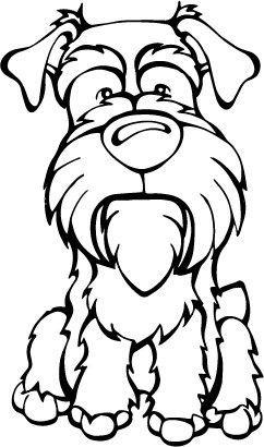 Schnauzer Decal Dog Desenhos Caes Estampas