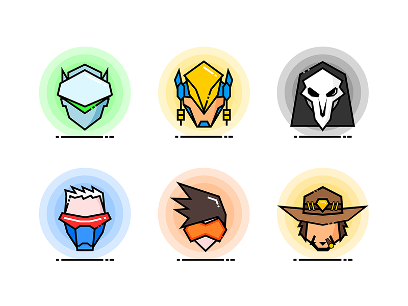 Overwatch Heroes Icons 1 Overwatch Hero Icon