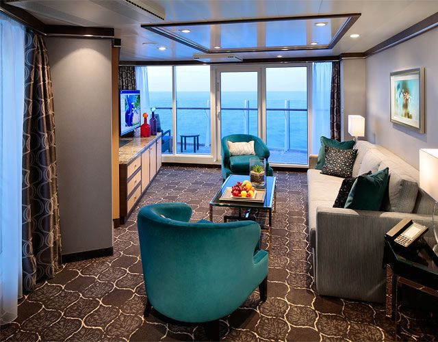 One Bedroom Aquatheater Suite With Balcony On Harmony Of The Seas Royalcaribbean
