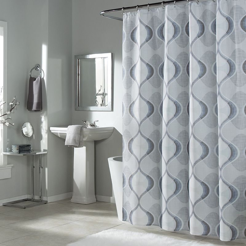 m.style Graphic Edge Shower Curtain,