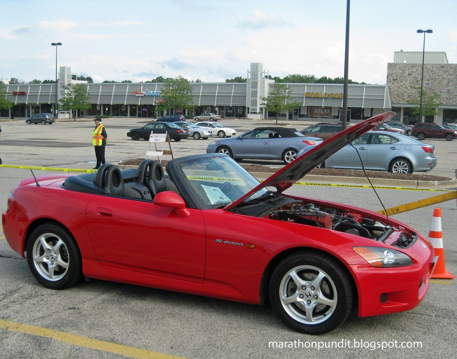 (Photos) Morton Grove Classic Car Show 7/27/12 #mortongrove Morton Grove Classic Car Show, A 1999 edition of a Honda 2000. #mortongrove