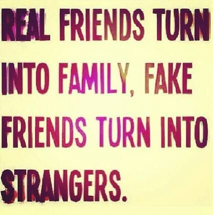 The sad thing is I thought of two friends as family and both are ...