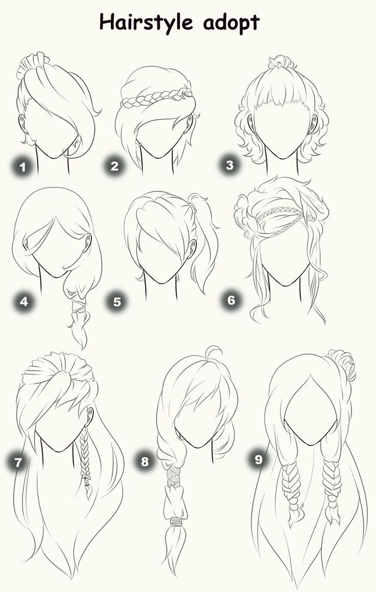 Pin Oleh Mizzy Caelum Di Sketch Gambar Rambut Anime Sketsa Cara Menggambar
