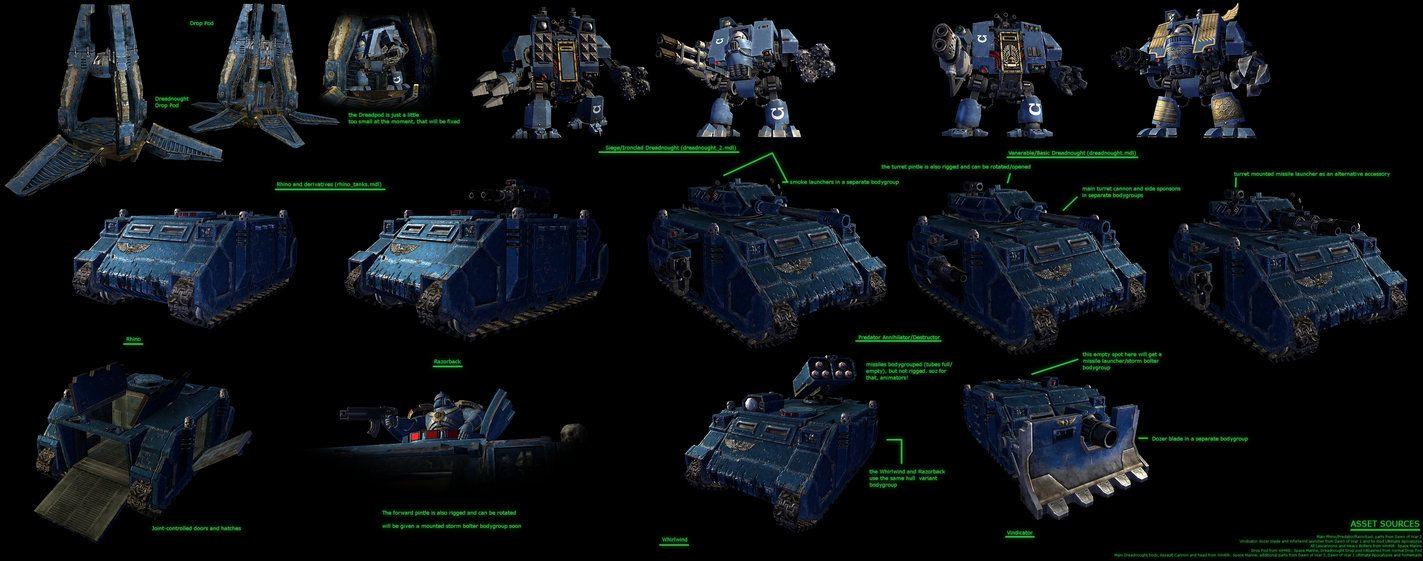 GMod/SFM: Space Marine vehicle stuff by Joazzz2 on