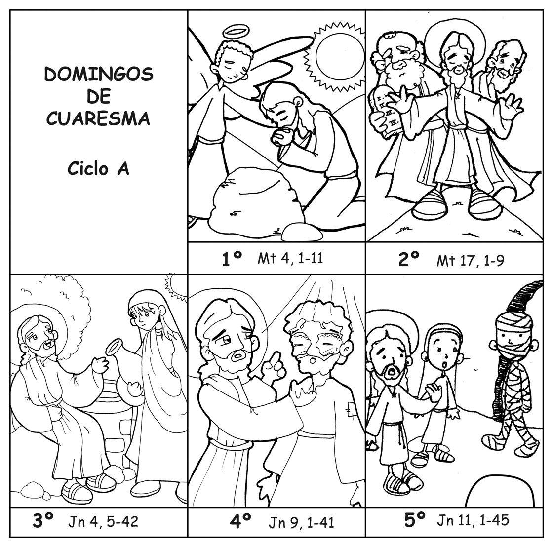 DOMINGOS DE CUARESMA – CICLO A para pintar.