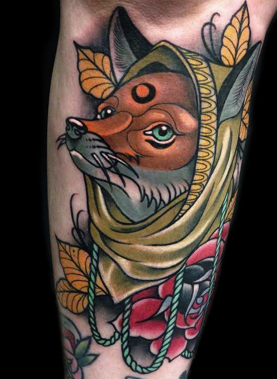 Neotraditional Fox Tattoo Tatuaje Neotradicional Tatuajes De Animales Zorro